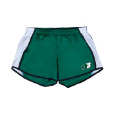Ladies Dark Green/White Team Short-Bearcat Head w/ B