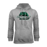 Grey Fleece Hood-Binghamton University Bearcats Official Logo
