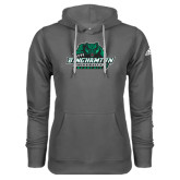 Adidas Climawarm Charcoal Team Issue Hoodie-Binghamton University Bearcats Official Logo