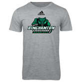 Adidas Sport Grey Logo T Shirt-Binghamton University Bearcats Official Logo