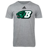 Adidas Sport Grey Logo T Shirt-Bearcat Head w/ B