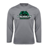 Performance Steel Longsleeve Shirt-Binghamton University Bearcats Official Logo