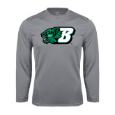 Performance Steel Longsleeve Shirt-Bearcat Head w/ B