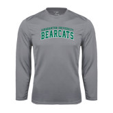 Performance Steel Longsleeve Shirt-Arched Binghamton University Bearcats