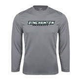 Performance Steel Longsleeve Shirt-Binghamton University Flat