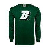 Dark Green Long Sleeve T Shirt-B
