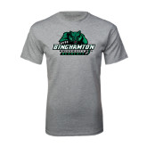 Sport Grey T Shirt-Binghamton University Bearcats Official Logo