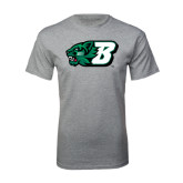 Grey T Shirt-Bearcat Head w/ B