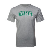 Grey T Shirt-Arched Binghamton University Bearcats