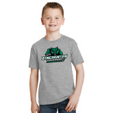 Youth Grey T-Shirt-Binghamton University Bearcats Official Logo