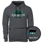 Contemporary Sofspun Charcoal Heather Hoodie-Binghamton University Bearcats Official Logo
