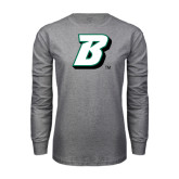 Grey Long Sleeve T Shirt-B
