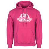 Fuchsia Fleece Hoodie-Binghamton University Bearcats Official Logo