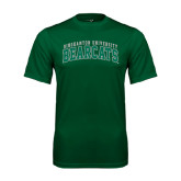 Performance Dark Green Tee-Arched Binghamton University Bearcats