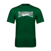 Performance Dark Green Tee-Crossed Bats Baseball Design