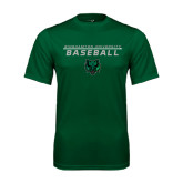 Performance Dark Green Tee-Baseball Stacked Design