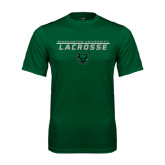 Performance Dark Green Tee-Lacrosse Stacked Design