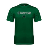 Performance Dark Green Tee-Wrestling Helmet Design