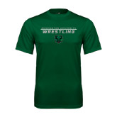 Performance Dark Green Tee-Wrestling Stacked Design