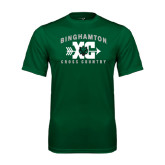 Performance Dark Green Tee-Arched Cross Country XC Design