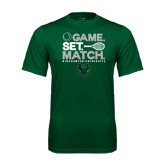 Performance Dark Green Tee-Game Set Match Tennis Design