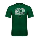 Performance Dark Green Tee-Game Set Match Tennis Design