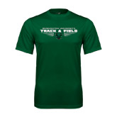 Performance Dark Green Tee-Track and Field Design