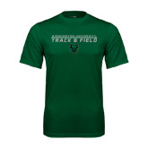 Performance Dark Green Tee-Track and Field Stacked Design