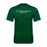Performance Dark Green Tee-Golf Stacked Design