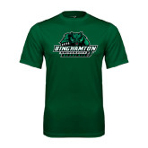 Performance Dark Green Tee-Binghamton University Bearcats Official Logo