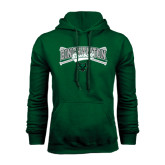 Dark Green Fleece Hood-Crossed Bats Baseball Design