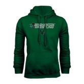 Dark Green Fleece Hood-Wrestling Helmet Design