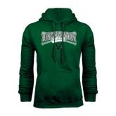 Dark Green Fleece Hood-Softball Crossed Bats Design