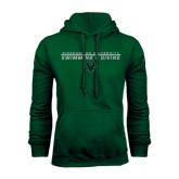 Dark Green Fleece Hood-Swim and Dive Stacked Design