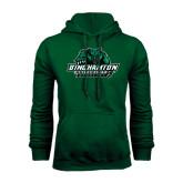Dark Green Fleece Hood-Binghamton University Bearcats Official Logo