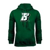 Dark Green Fleece Hood-B