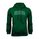 Dark Green Fleece Hood-Arched Binghamton University Bearcats