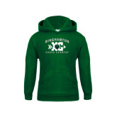 Youth Dark Green Fleece Hoodie-Arched Cross Country XC Design