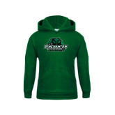 Youth Dark Green Fleece Hoodie-Binghamton University Bearcats Official Logo