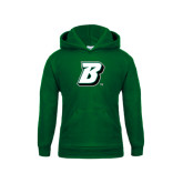 Youth Dark Green Fleece Hoodie-B