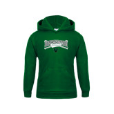 Youth Dark Green Fleece Hood-Crossed Bats Baseball Design