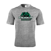 Performance Grey Heather Contender Tee-Binghamton University Bearcats Official Logo