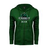 ENZA Ladies Dark Green Fleece Full Zip Hoodie-Mom