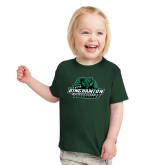Toddler Dark Green T Shirt-Binghamton University Bearcats Official Logo