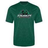 Performance Dark Green Heather Contender Tee-Binghamton University Bearcats Official Logo
