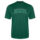 Performance Dark Green Heather Contender Tee-Arched Binghamton University Bearcats