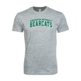 Next Level SoftStyle Heather Grey T Shirt-Arched Binghamton University Bearcats