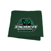 Dark Green Sweatshirt Blanket-Binghamton University Bearcats Official Logo