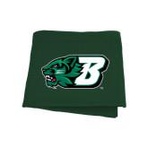 Dark Green Sweatshirt Blanket-Bearcat Head w/ B