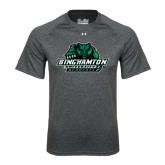 Under Armour Carbon Heather Tech Tee-Binghamton University Bearcats Official Logo